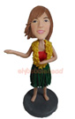 Custom Hula Girl Custom Bobblehead