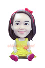 Custom Litter Girl With Skirt Bobblehead