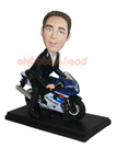 Custom Male In Suit On Motorcycle Bobblehead