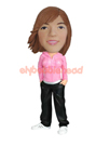 Custom Modern Girl Bobble Head Doll