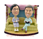 Custom Romantic Family Couple Bobblehead