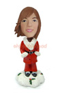 Custom Christmas Pretty Girl Custom Bobblehead 3