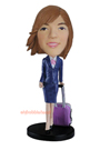 Custom Stewardess Beauty Custom Bobblehead