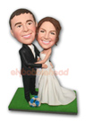 Custom Wedding Couple Bobblehead 9